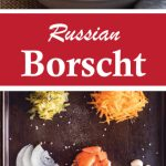 Ingredients for making a vegetarian Russian borscht