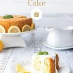 Lemon Basil Sponge Cake with Lemon cheese sauce