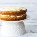 Carrot cake on a pedestal