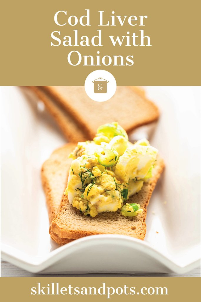 Cod Liver salad on crackers