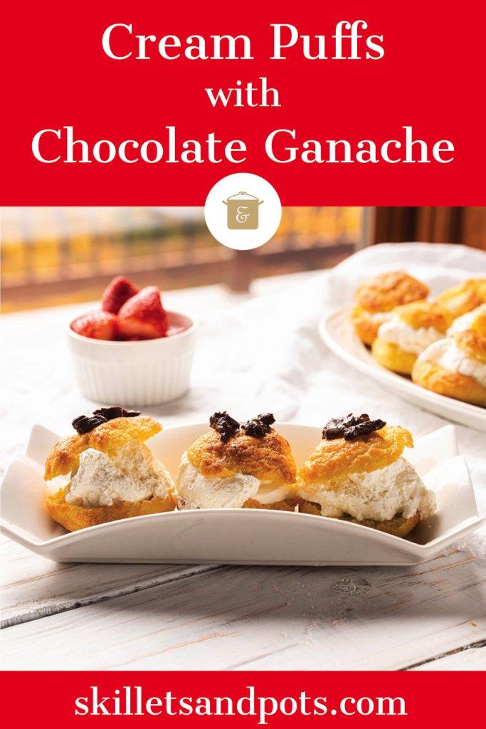 Cream Puffs with Chocolate Ganache