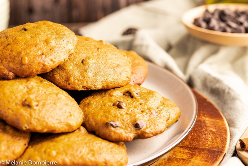 Banana Spice Cookies with Chocolate Chips