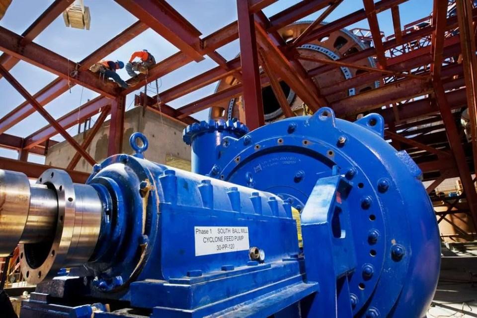 KSB heavy duty MDX slurry pump