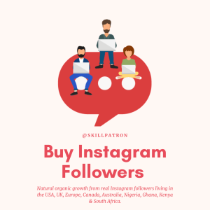 Buy engaging, active and real Instagram Followers with Paypal
