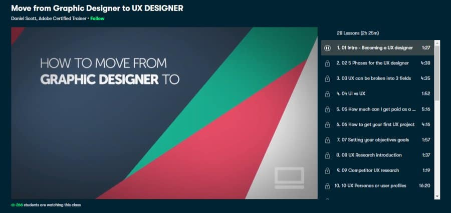 Move from Graphic Designer to UX Designer
