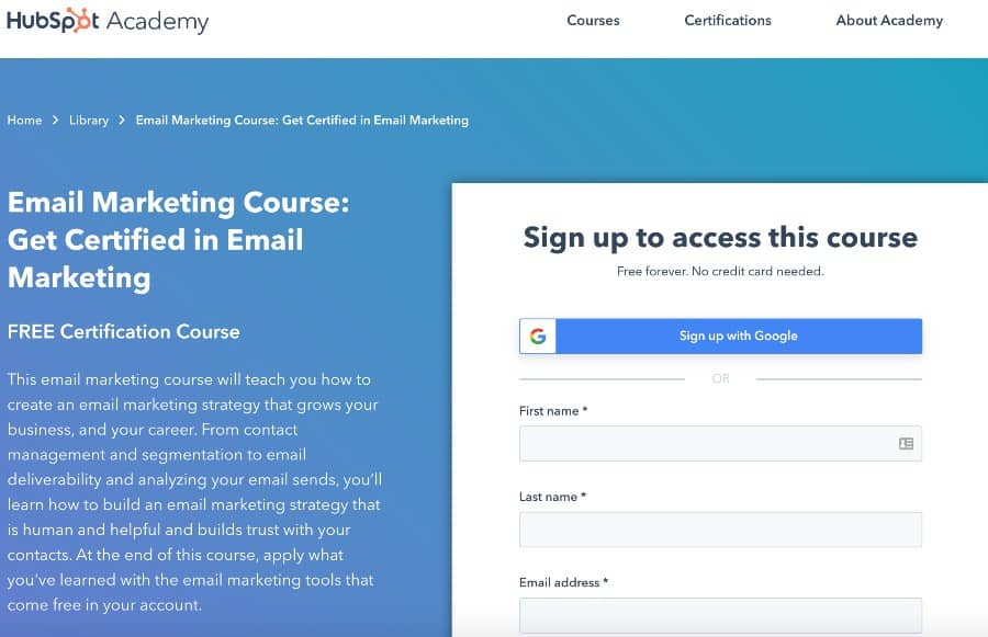 Email Marketing Course Get Certified in Email Marketing (HubSpot)