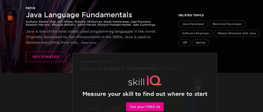 9. Java Language Fundamentals – Path (Pluralsight)