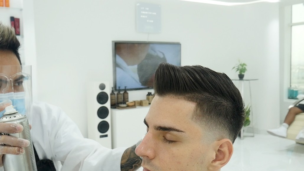 Using Hairspray during the Style Finishing