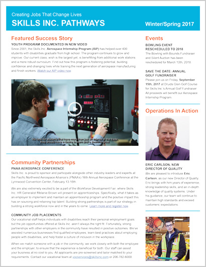 Winter/Spring 2017 Newsletter