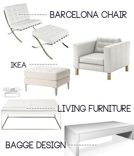 My Modern White Living Room Inspiration  Skimbaco