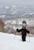 Petite rando, Sven en snowboard