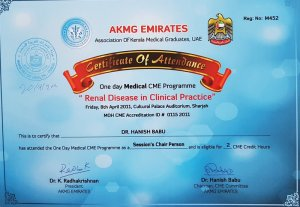 2011 Chairperson CME Dr Hanish Babu MD