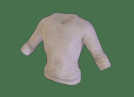 Skin Tracker PUBG Long Sleeved T Shirt White