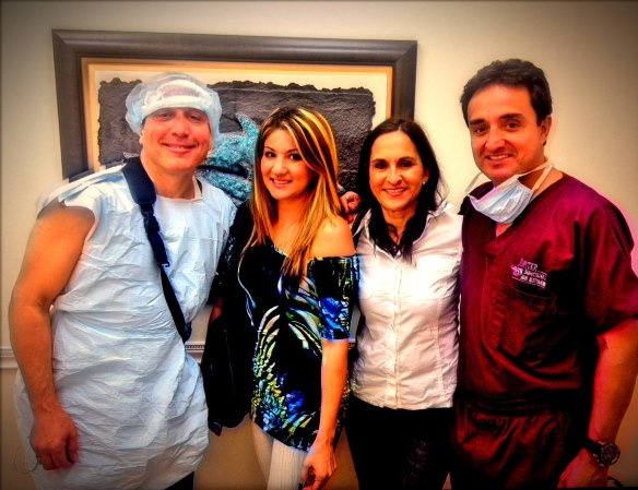About to take a lunch break, from left to right, Carlos, Karla, Blanca and Dr. Mejia