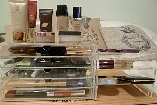 Muji Acrylic 5 Drawer Case and Rack Makeup Storage