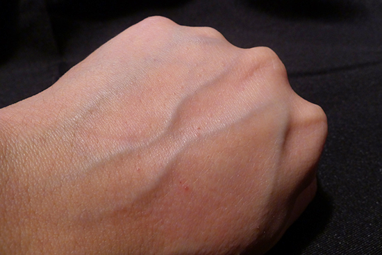 You can see that my hand is visibly brighter after rinsing the cleansing foam away. This effect is temporary.