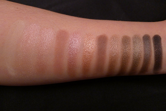 Urban Decay Naked3 Palette Swatches