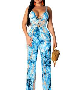 Comfortable Super Faddish Slender Strap Open Back Twist Jumpsuit