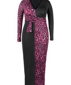 Elegant Yet Sultry Deep V Neck Plus Size Bodycon Dress