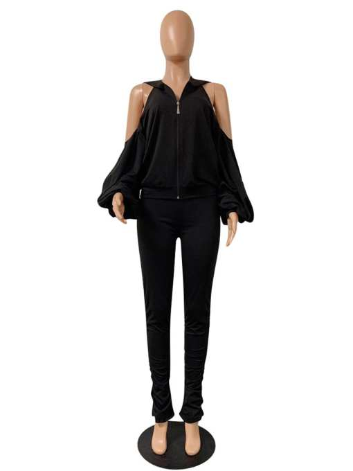 Chic High Rise Women Suit Long Sleeve Delightful Garment