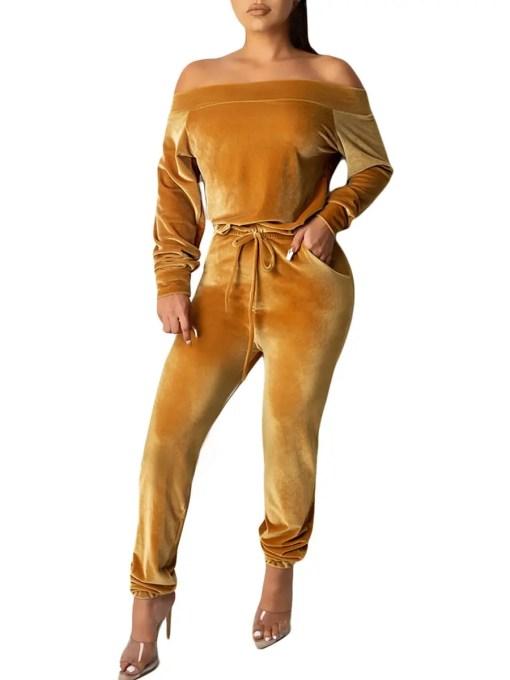 Trendy Premium Jumpsuit Long Sleeve Elastic Ankle Latest Trend