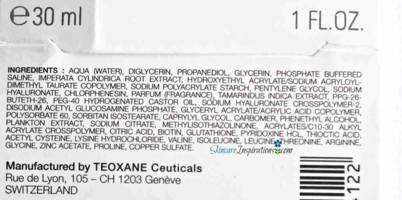 2. Teoxane RHA Serum INCI