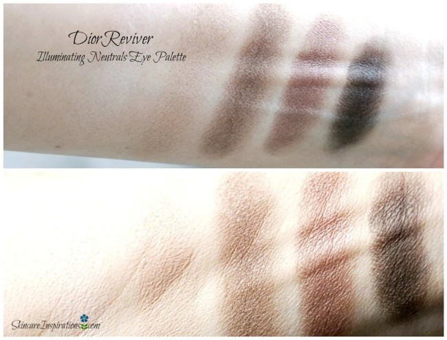 1. DIOR eye Reviver swatches