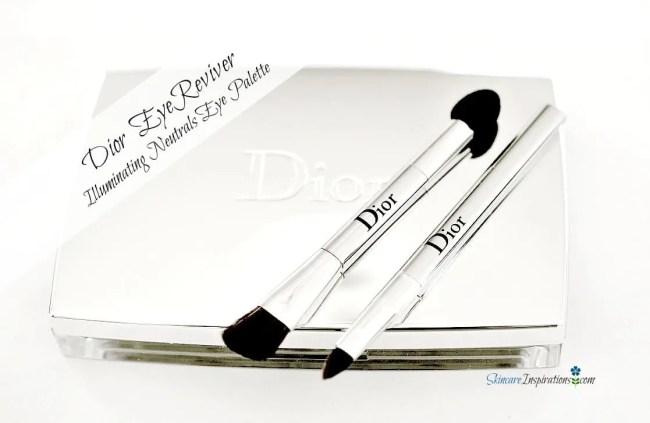 1. DIOR_Eye Reviver Illuminating Eye Neutrals Palette Eyeshadows brushes