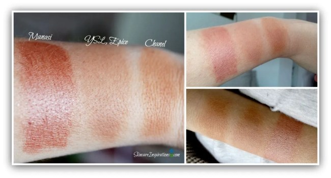 a. Manasi YSl EPice Chanel Bronzers swatches
