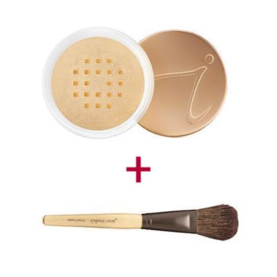 Duo-of-Jane-Iredale-Amazing-Base-Loose-Powder-and-Chisel-Powder-Brush