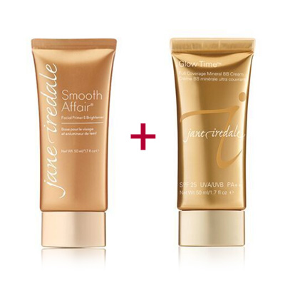 Duo-pack-of-the-Jane-Iredale-Smooth-Affair-plus-Glow-Time-BB-Cream