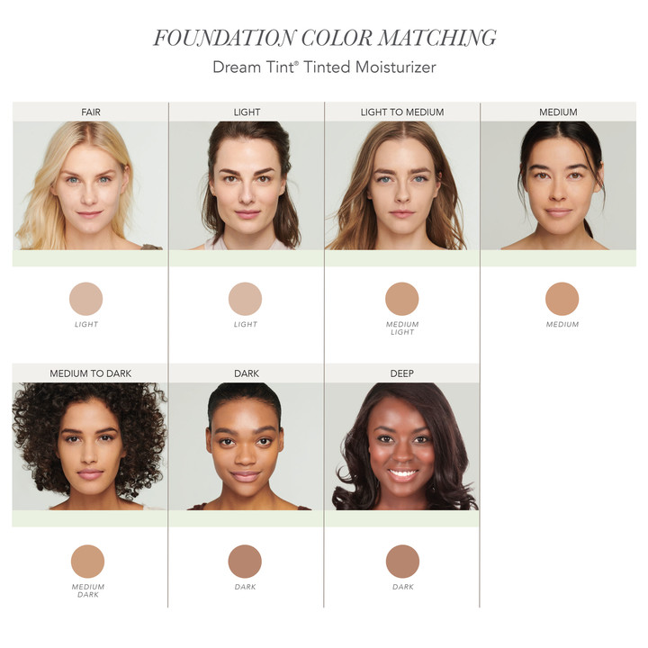 Jane Iredale Dream Tint Colour Guide