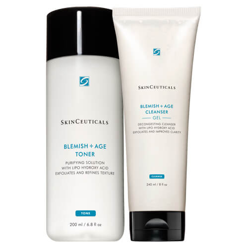 Skinceuticals Duo of Blemish and Age Cleanser PLUS Toner