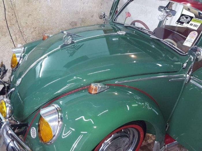 Hasil Cat Mobil Kinclong VW Beetle keluargan 66