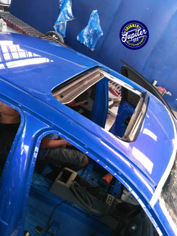 Car detailing jogja - moonroof finishing set up