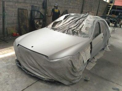 Pengerjaan cat mobil ke osaka