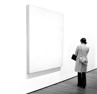 blank white canvas blonde