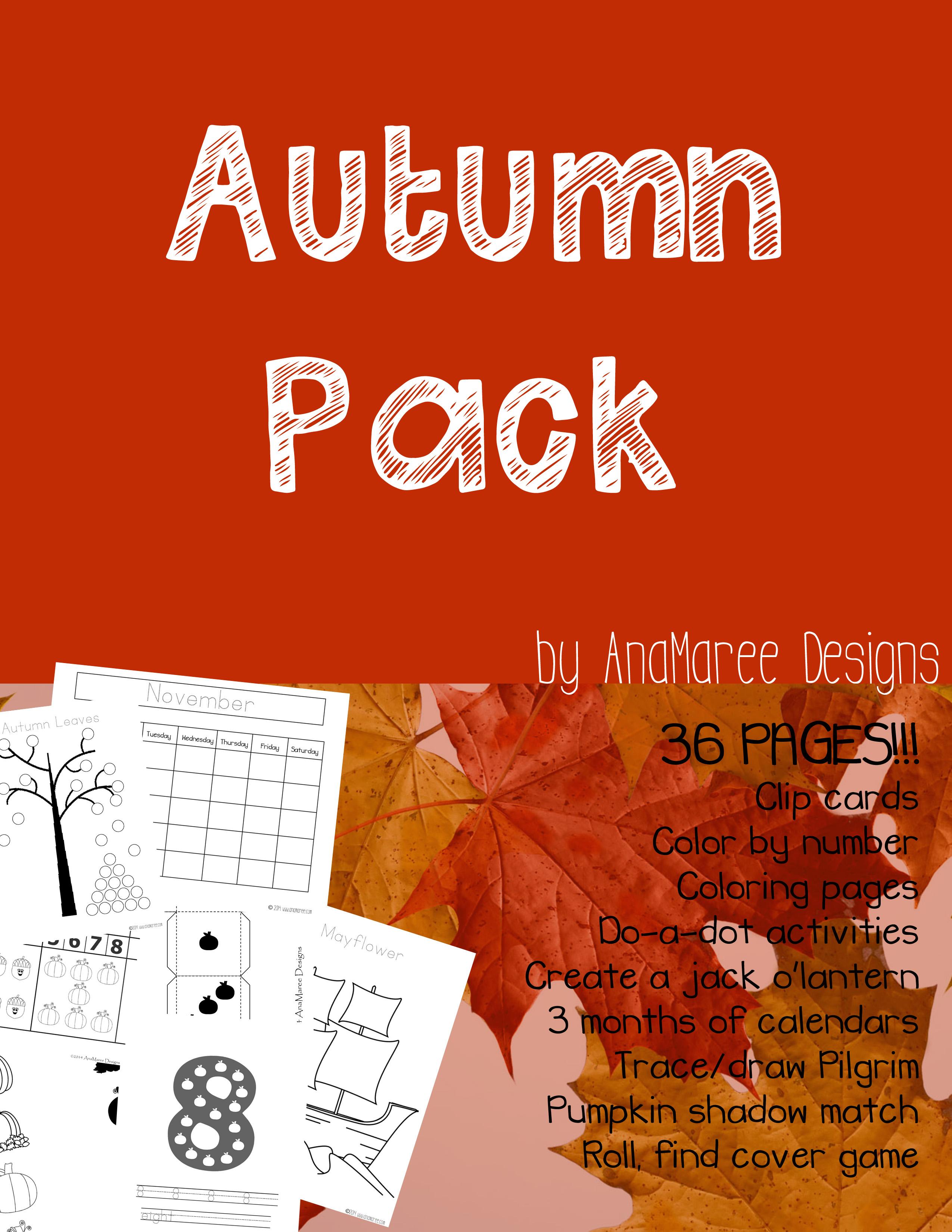 Autumn Pack On Sale Anamaree Designs