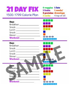 Calorie tally sheets also day fix container sizes and portion control guide rh skinnyfiberdietplan