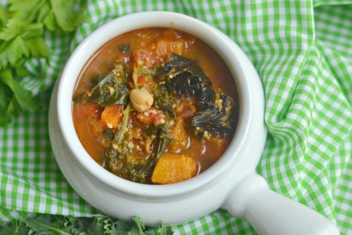 Cashew Kale Veggie Chickpea Soup