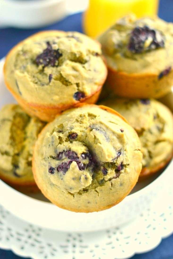 Orange Blackberry Quinoa Muffins