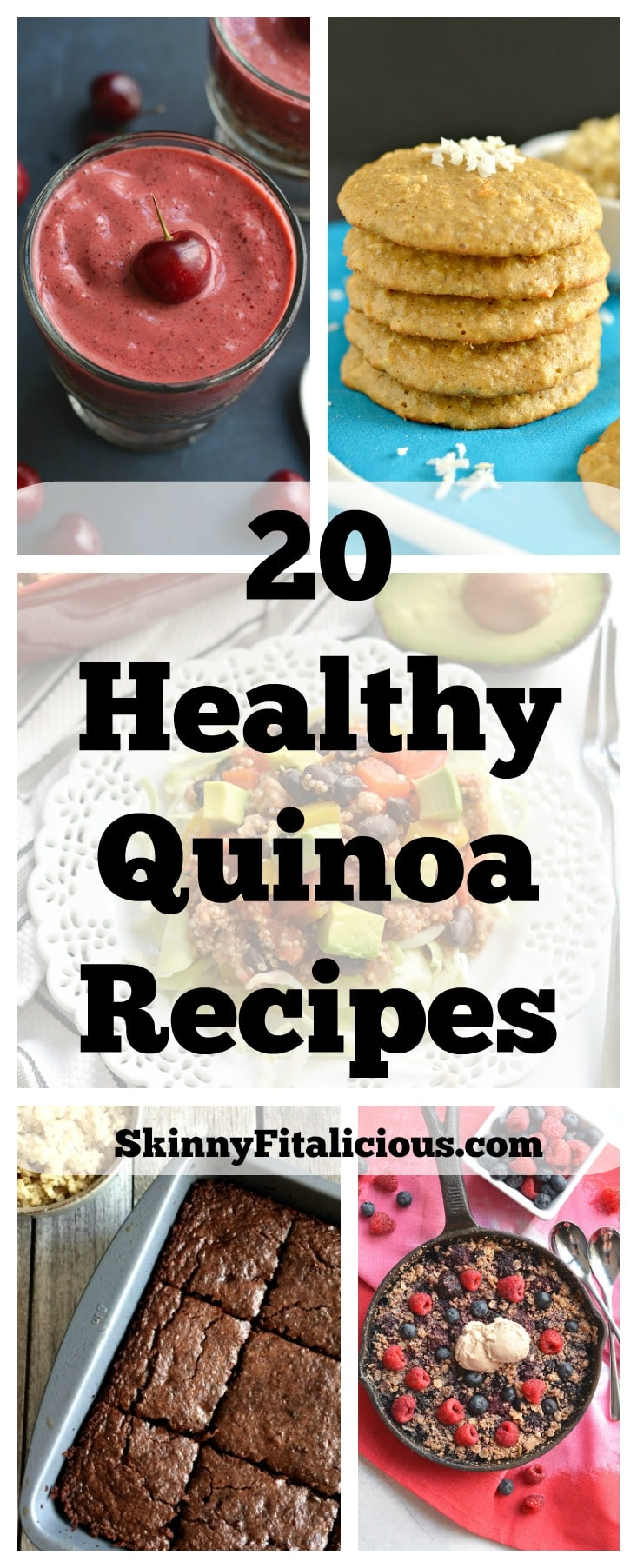 From sweet to savory, these20 Healthy Quinoa Recipes will show you how delicious and EASY quinoa can be to add to your meals and snacks.