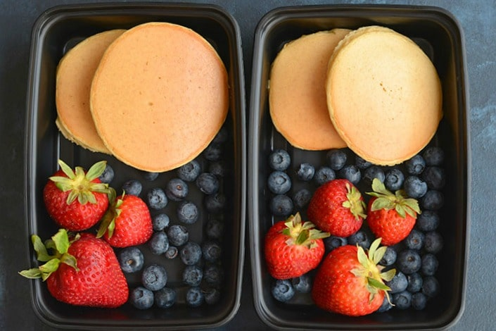 Meal Prep Almond Flour Pancakes {GF, Paleo, Low Cal}