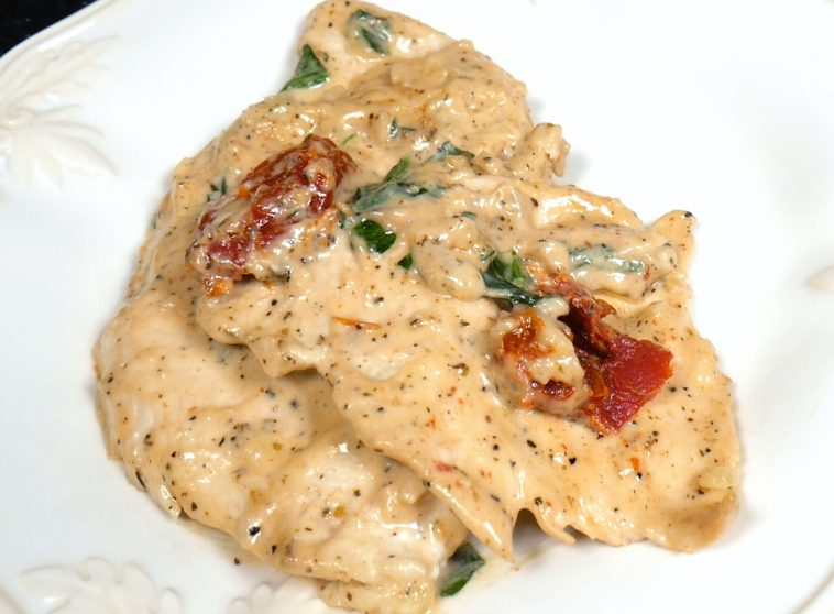 Crock Pot Creamy Tuscan Garlic Chicken