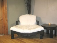Raja Meditation Chair in Espresso Color with Cream ...