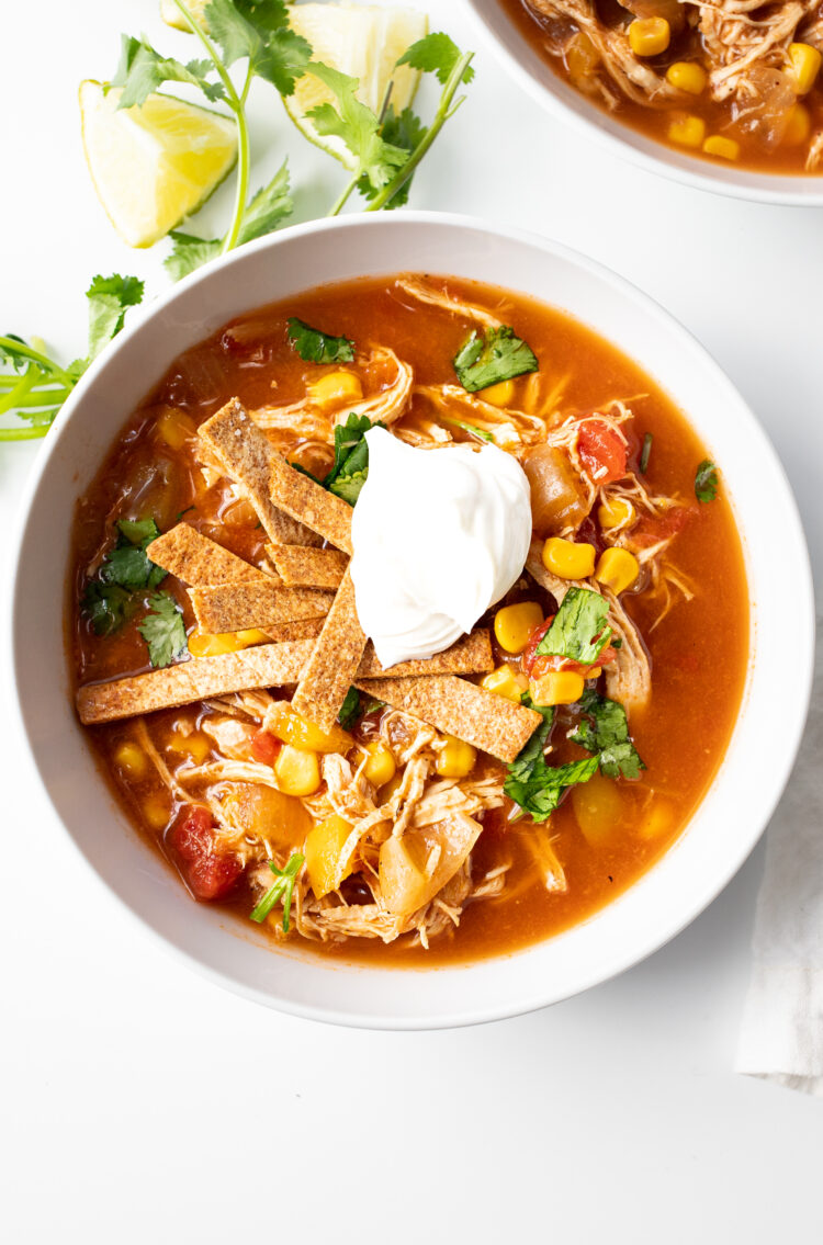 This delicious chicken soup is made with healthy ingredients that you can feel good about!
