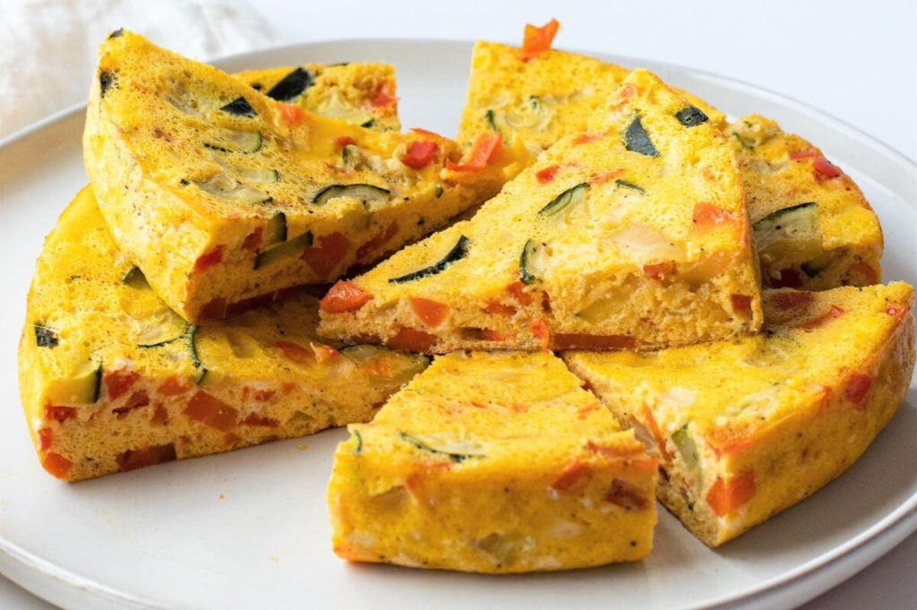 Our slow cooker vegetable omelette makes a great breakfast on busy mornings.