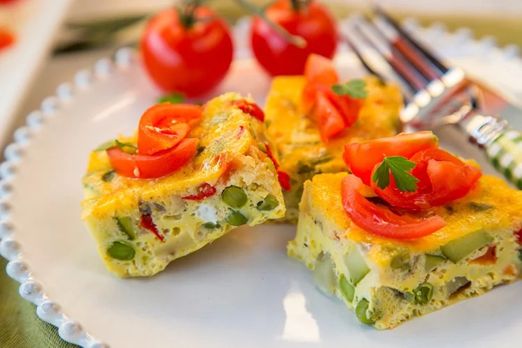 slow cooker vegetable omelette recipe