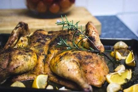 Butterflied Lemon Roast Chicken