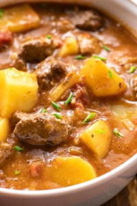 This warm and comforting beef stew is the perfect recipe for a cold, winter day!